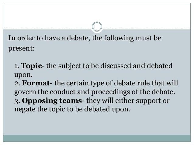 Asian parliamentary debate criteria
