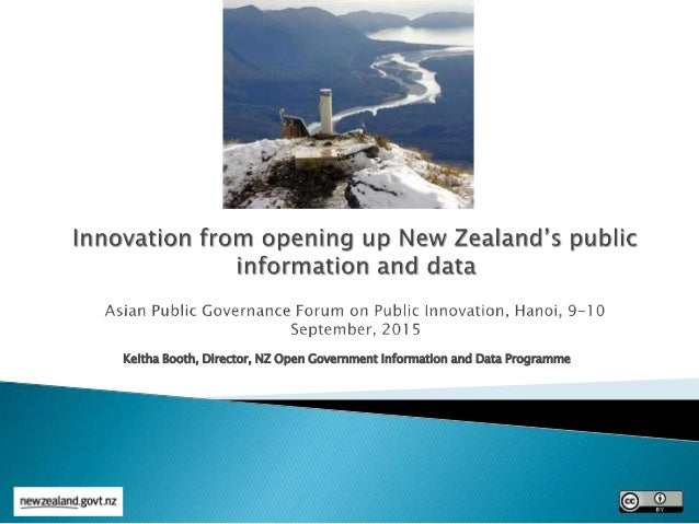 Keitha Booth, Director, NZ Open Government Information and Data Programme