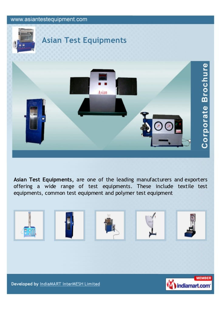 Asian Test EquipmentsAsian Test Equipments, are one of the leading manufacturers and exportersoffering a wide range of tes...