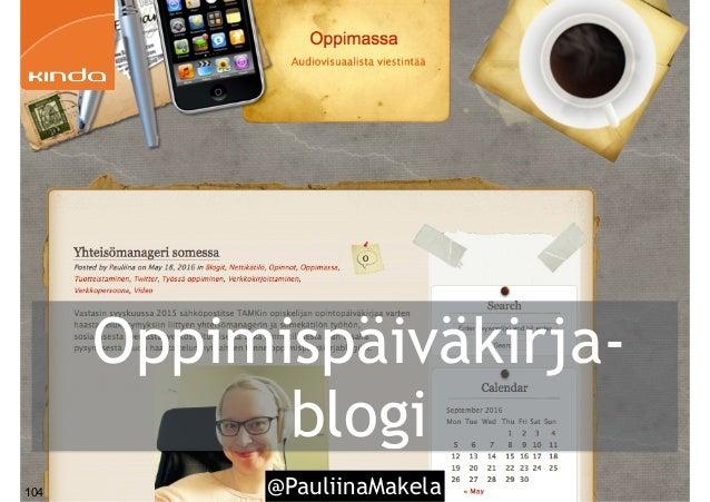 @PauliinaMakela104 Oppimispäiväkirja- blogi