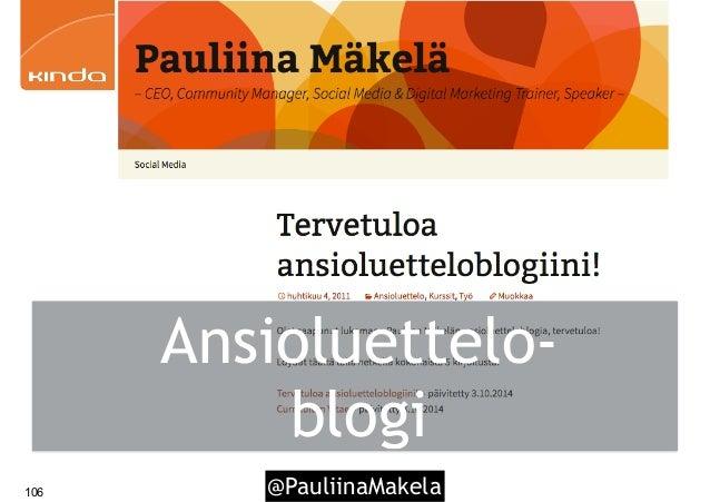 @PauliinaMakela106 Ansioluettelo- blogi