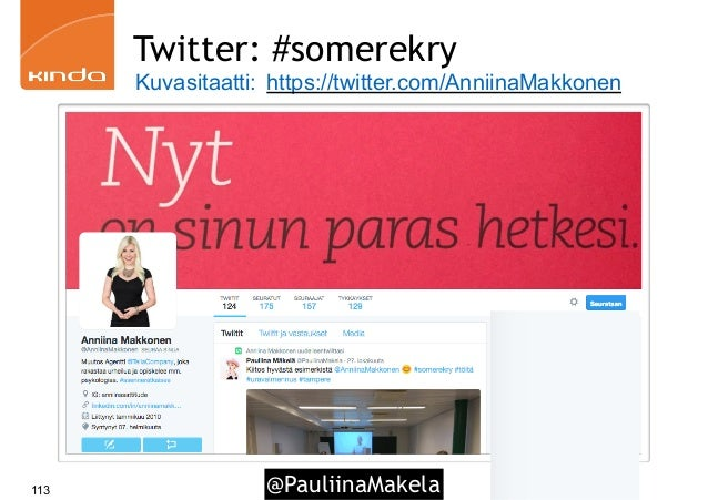 @PauliinaMakela113 Twitter: #somerekry Kuvasitaatti: https://twitter.com/AnniinaMakkonen