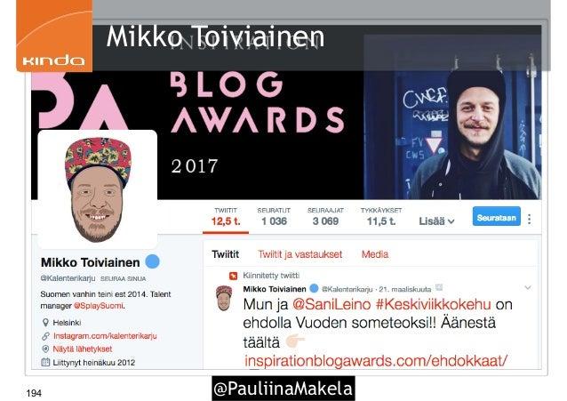@PauliinaMakela194 Mikko Toiviainen