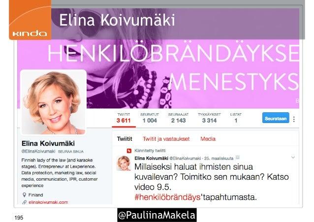 @PauliinaMakela195 Elina Koivumäki