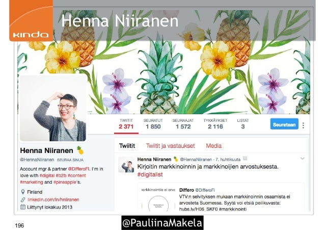 @PauliinaMakela196 Henna Niiranen