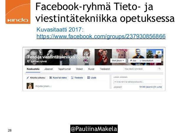 @PauliinaMakela28 Facebook-ryhmä Tieto- ja viestintätekniikka opetuksessa Kuvasitaatti 2017: https://www.facebook.com/grou...