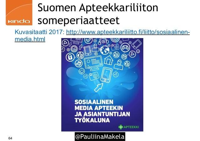 @PauliinaMakela64 Suomen Apteekkariliiton someperiaatteet Kuvasitaatti 2017: http://www.apteekkariliitto.fi/liitto/sosiaal...