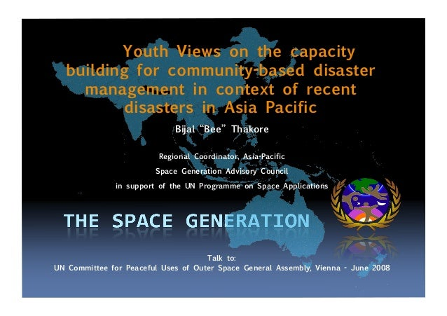 Youth Views on the capacity building for community-based disaster management in context of recent disasters in Asia Pacifi...