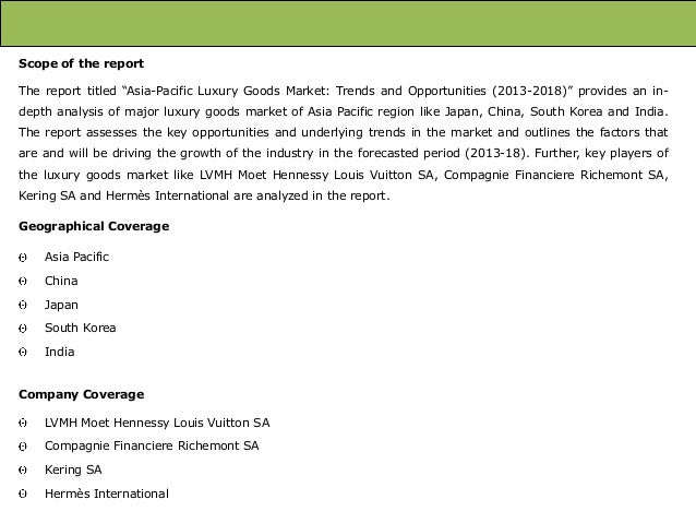 Asia Pacific Luxury Goods Market: Trends and Opportunities (2013-2018) – New Report by Daedal Research Slide 2
