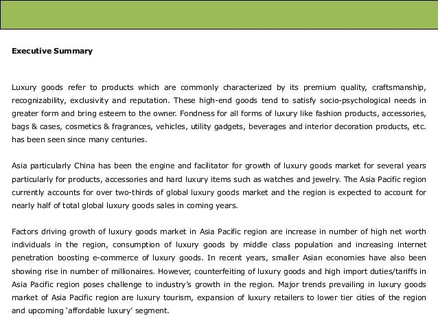 Asia Pacific Luxury Goods Market: Trends and Opportunities (2013-2018) – New Report by Daedal Research Slide 3