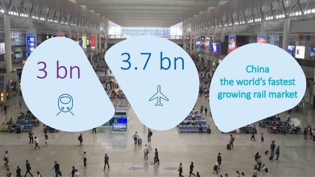 2 ©AmadeusITGroupanditsaffiliatesandsubsidiaries 3 bn 3.7 bn China the world's fastest growing rail market