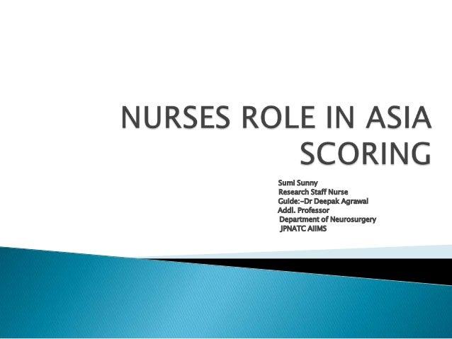 Sumi Sunny Research Staff Nurse Guide:-Dr Deepak Agrawal Addl. Professor Department of Neurosurgery JPNATC AIIMS
