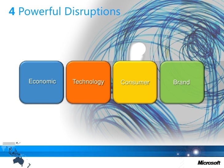 4 Powerful Disruptions<br />Economic<br />Technology<br />Brand<br />Consumer<br />