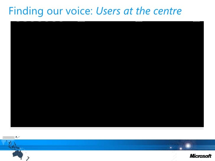 Finding our voice: Users at the centre<br />