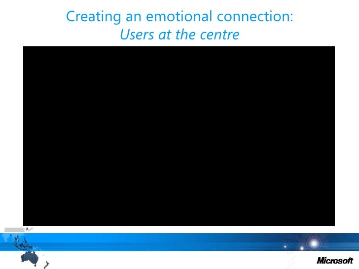 Creating an emotional connection:Users at the centre<br />