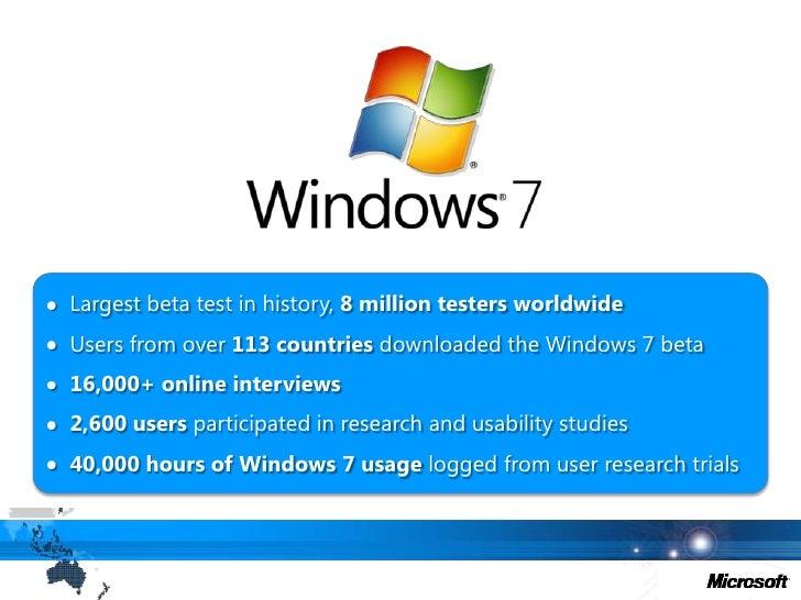 <ul><li>Largest beta test in history, 8 million testers worldwide