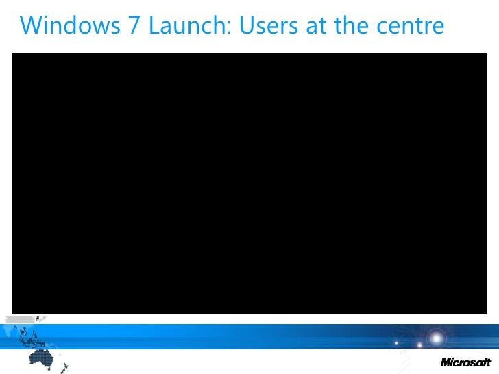 Windows 7 launch strategy<br />1. Finding Our Voice<br />4. LaunchNew Version<br />User at the centre<br /> 2. Creating ...