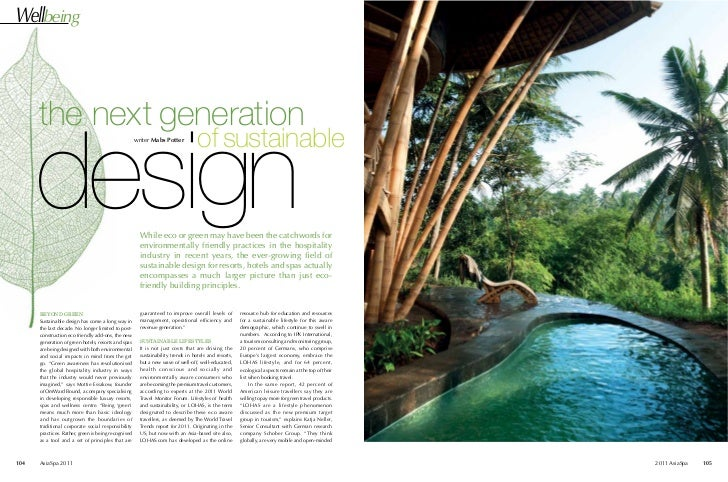 Wellbeing      the next generation      design                                                     writer Mabs Potter     ...