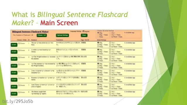 An Improvement and Practice of Bilingual Sentence Flashcard