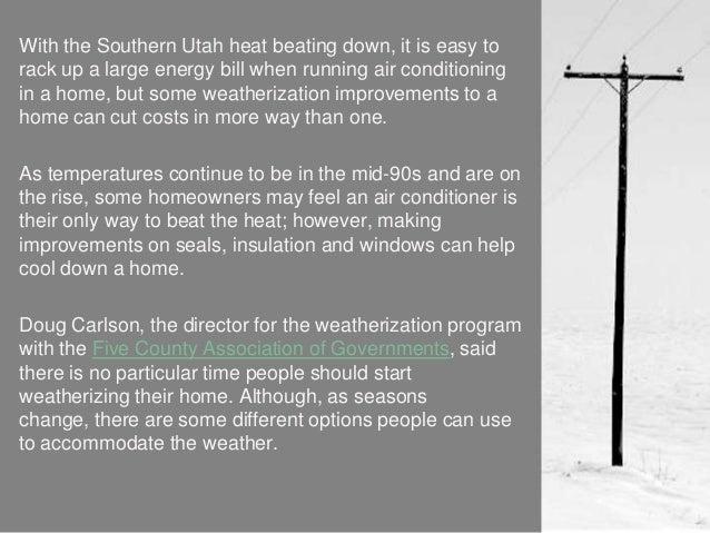 asia world energy-Weatherizing homes reduces energy burden for customers Slide 2