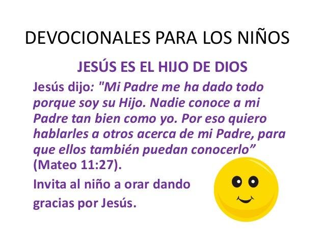 DEVOCIONALES Asi es Dios para los nios