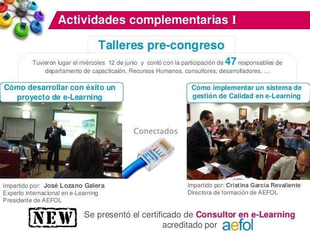 """Actividades complementarias II Premios AEFOL De gran proyección internacional conocidos como """"Los Oscar del e-Learning"""". 3..."""