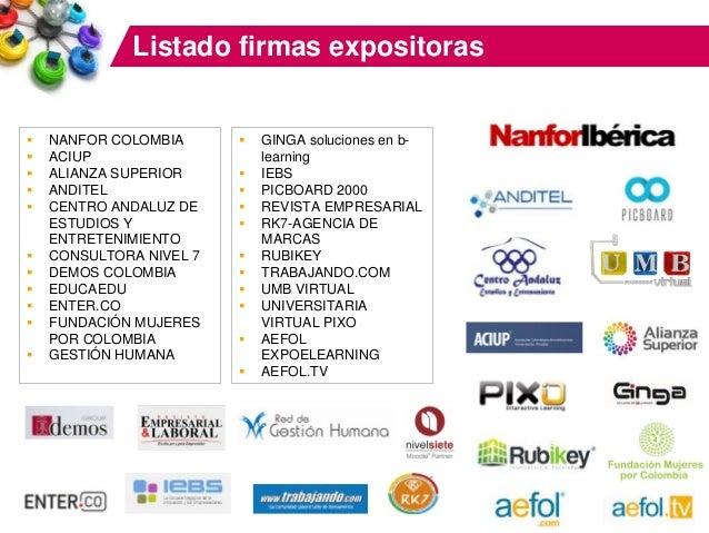 PatrociniosPosicionamiento de liderazgo, máxima visibilidad General 2013 Datos Feria Profesional: 22 firmas expositoras en...