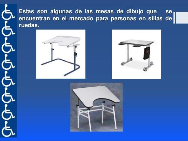 Mesa de dibujo o trabajo para personas en sillas de ruedas - Mesa de dibujo para arquitectura ...