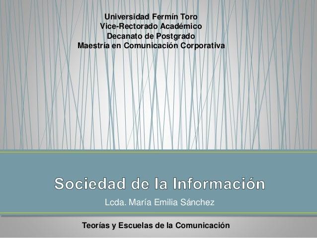 Asig 4 - Sociedades de la Información - Lcda. Ma Emilia Sánchez