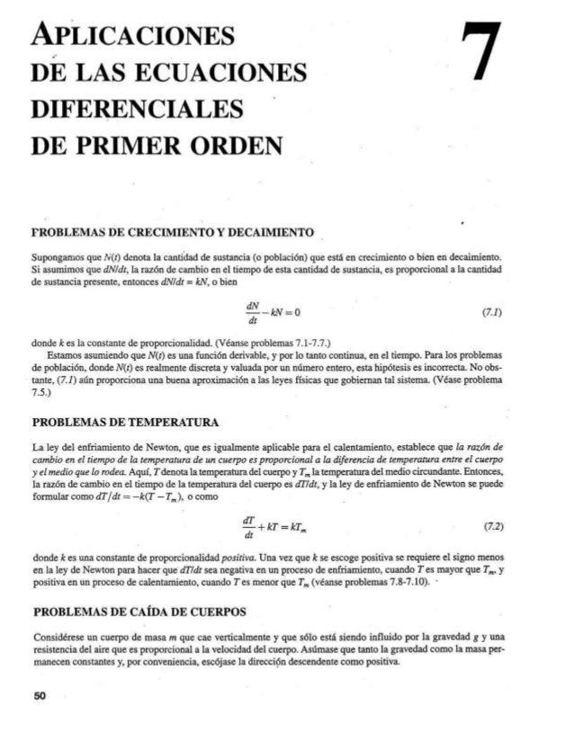 Aplicaciones Ecuaciones Diferenciales Ordinarias