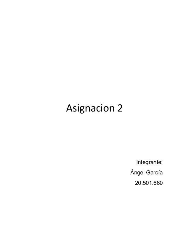 Asignacion 2 Integrante: Ángel García 20.501.660