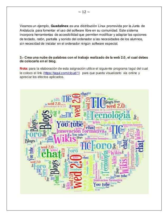 ~ 12 ~ Veamos un ejemplo, Guadalinex es una distribución Linux promovida por la Junta de Andalucía para fomentar el uso de...