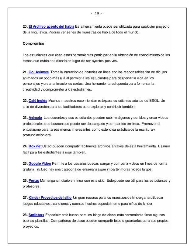 ~ 15 ~ 20. El Archivo acento del habla Esta herramienta puede ser utilizada para cualquier proyecto de la lingüística. Pod...