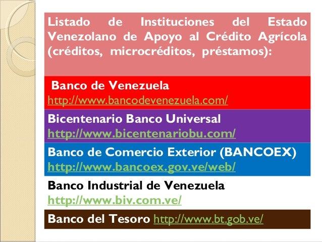Requisitos Para Creditos Del Banco Agricola De Venezuela