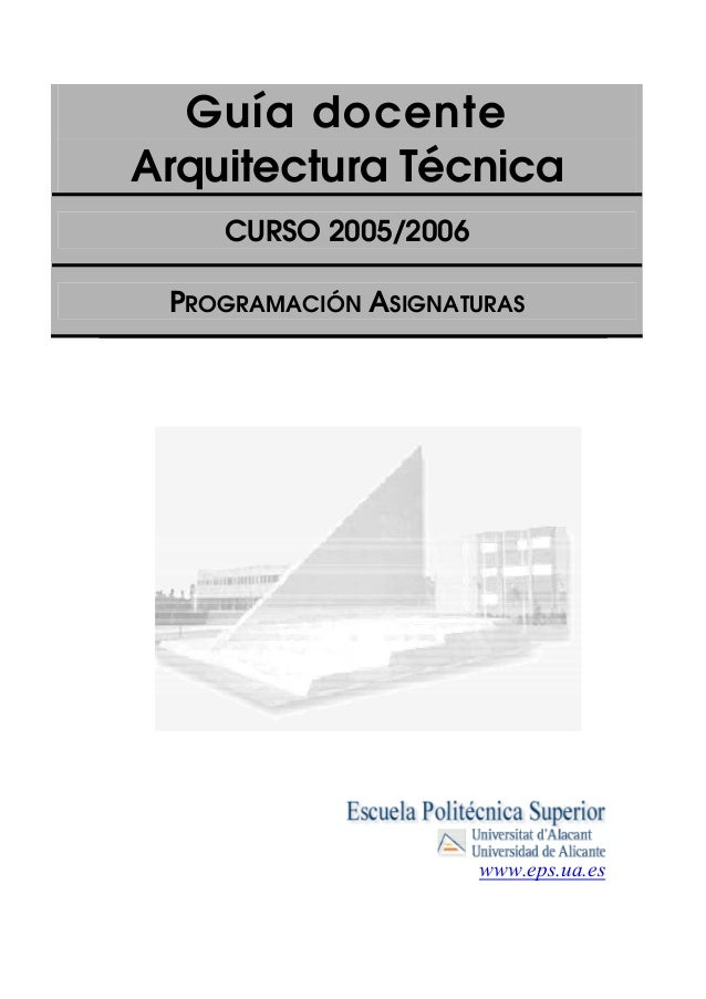 Asignaturas Arquitecturatecnica2005 06
