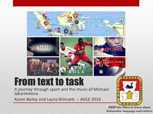 From Text to Task  Teaching Sport and Music in Indonesian