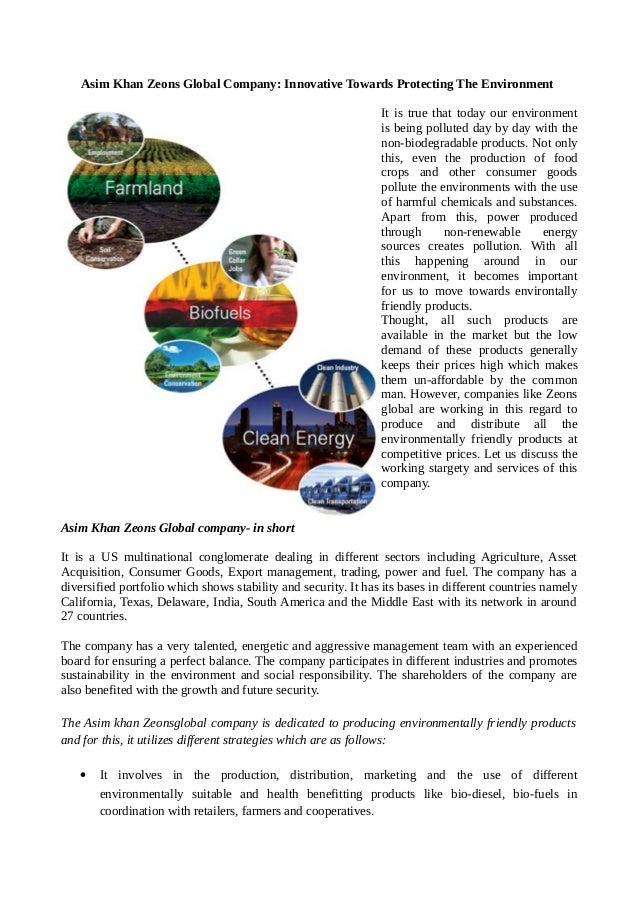 Asim Khan Zeons Global Company: Innovative Towards
