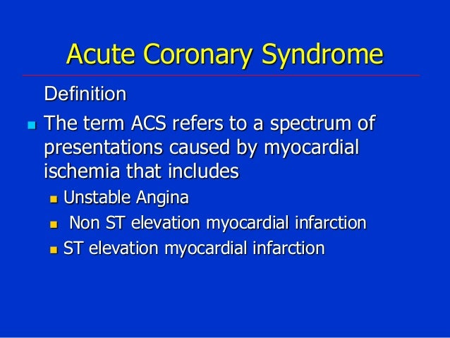 acute coronary syndrome  nstemi