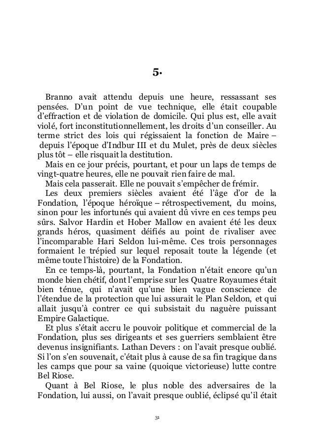Asimov 4 fondation foudroy e - Porter plainte pour violation de domicile ...
