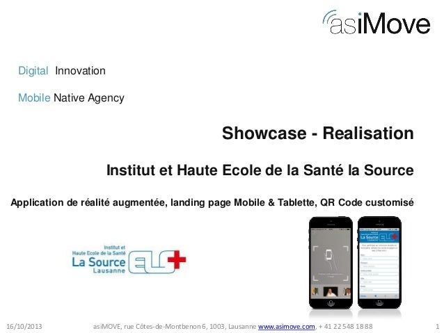 Digital Innovation Mobile Native Agency  Showcase - Realisation Institut et Haute Ecole de la Santé la Source Application ...
