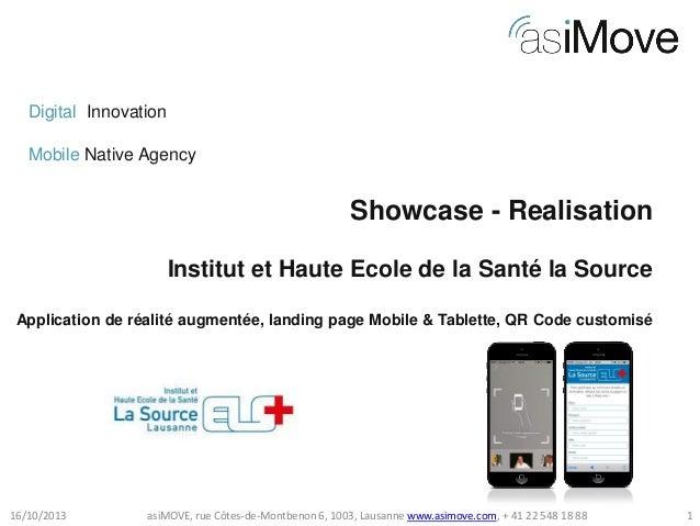 Digital Innovation Mobile Native Agency  Showcase - Realisation Institut et Haute Ecole de la Santé la Source Application ...