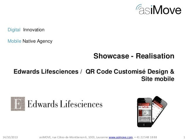 Digital Innovation Mobile Native Agency  Showcase - Realisation Edwards Lifesciences / QR Code Customisé Design & Site mob...