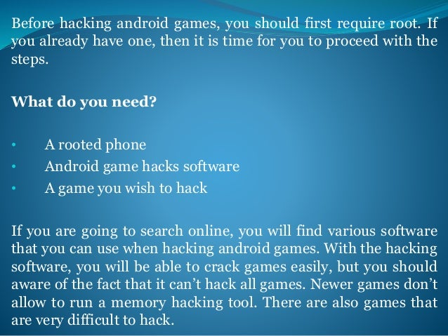 A Simple and Easy Way Of Hacking Android Games