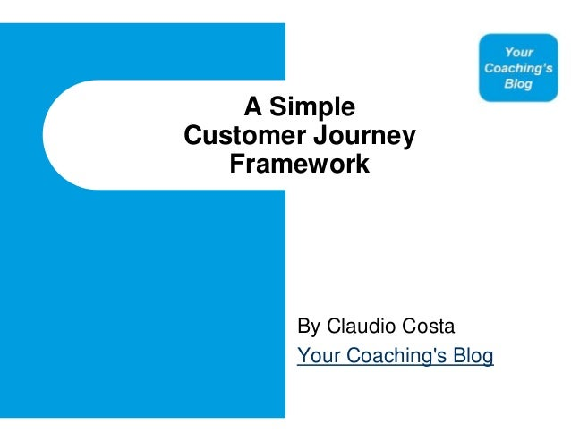 A SimpleCustomer Journey   Framework       By Claudio Costa       Your Coachings Blog