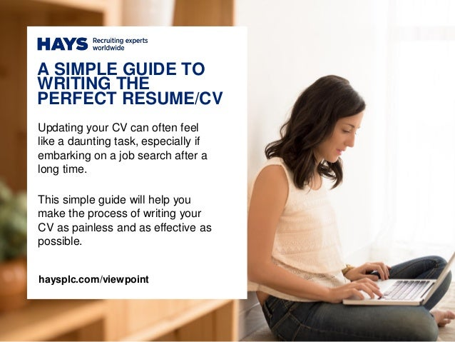 Effective CV   Resume Writing Writing A Cv Work History