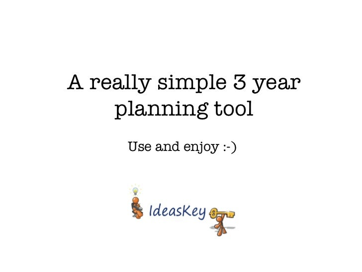 Really simple 3 year plan template
