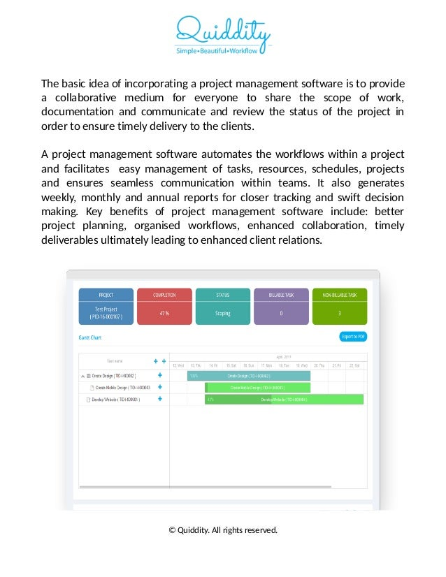 A simple project management software to streamline projects