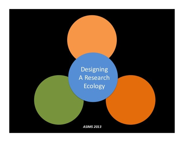 Designing  A Research Ecology  ASIMS 2013