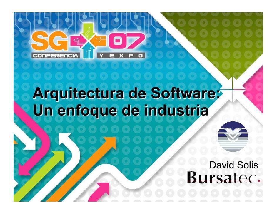 Software Architecture SoftwareGuru 2007