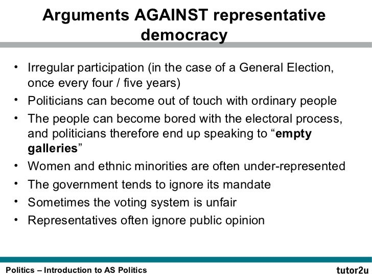Arguments against Democracy